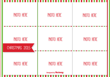 Christmas Photo Collage Template - бесплатный vector #335355