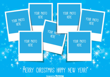 Christmas Photo Collage - Free vector #335495