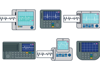 EKG Machine Vector - Free vector #335565