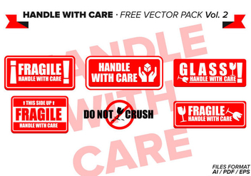 Handle With Care Free Vector Pack Vol. 2 - Free vector #335575