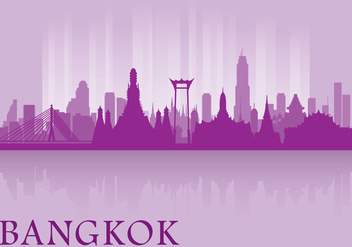 Bangkok Skyline - Free vector #335815