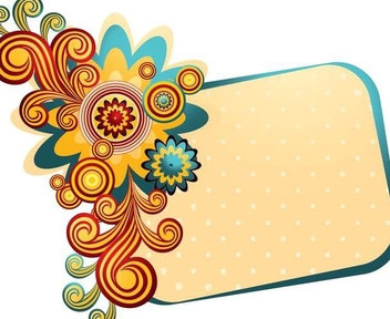 Colorful Swirling Frame Summer Banner - vector gratuit #335925