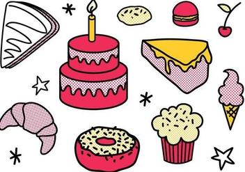 Free Dessert Vectors - vector gratuit #335935
