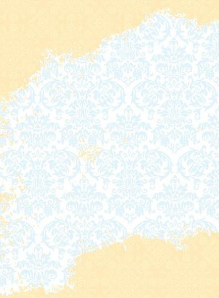 Blue Gold Floral Ornament Pattern - vector gratuit(e) #336065