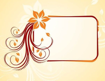 Flowery Swirls Frame Shiny Banner - Free vector #336275