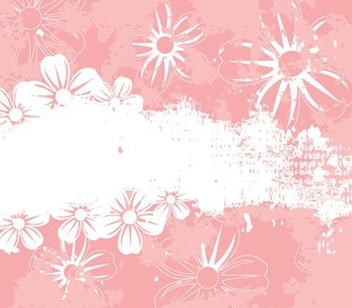 Grungy Pink Flower Background - vector gratuit(e) #336415