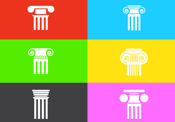Vector Set of Roman Pillars - vector gratuit #336545