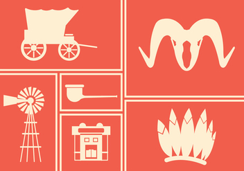 Wild West Vector Icons - Kostenloses vector #336585
