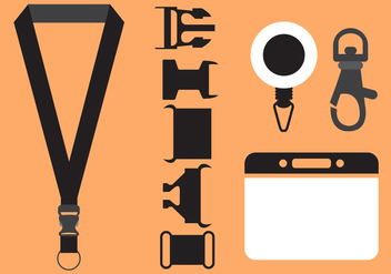 Vector Set of Lanyard Accessories - Free vector #336645