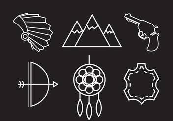Wild West Vector Icons - Free vector #336685