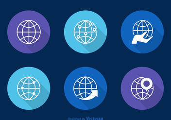 Free Globes Vector Icons - Free vector #336715