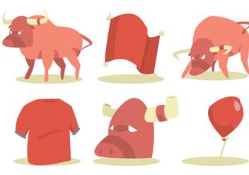 Bull Rider Vector Set - Free vector #336825