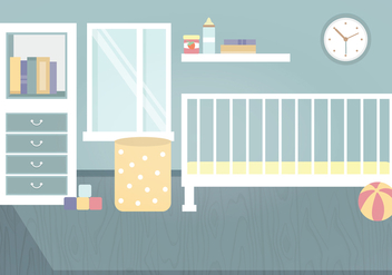 Vector Kids Room Illustration - vector gratuit #336855