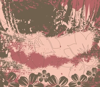 Grungy Vintage Floral Background - Free vector #336905