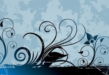 Swirling Frame Grungy Background - Free vector #336915
