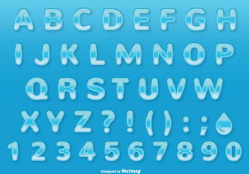 Water Style Font / Alphabet Set - Free vector #336965