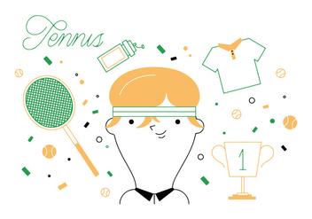 Free Tennis Vector - Kostenloses vector #336975
