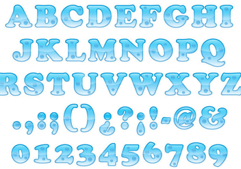 Bold Water Font - Free vector #337085