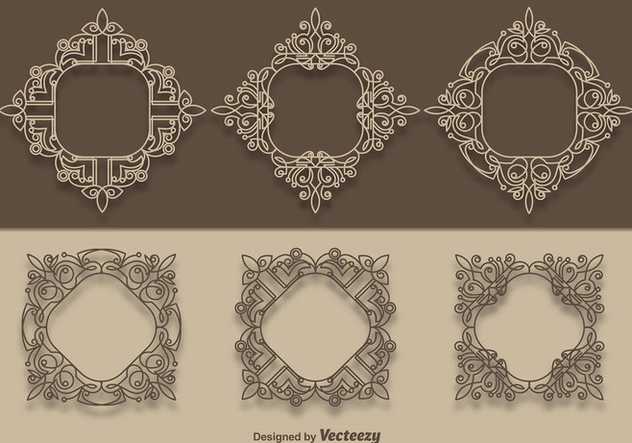 Vector Scrollwork Collection - Free vector #337155