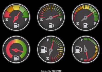 Fuel gauge with colors - Free vector #337165