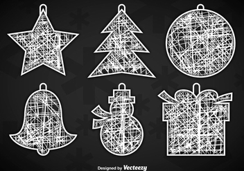 White Christmas hangers - Free vector #337185