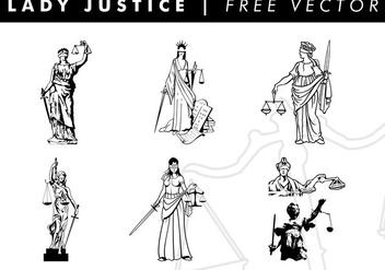 Lady Justice Free Vector - Kostenloses vector #337245