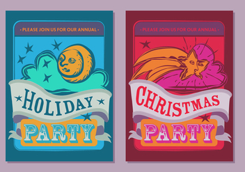 Free Christmas Party Poster Vector - Kostenloses vector #337305