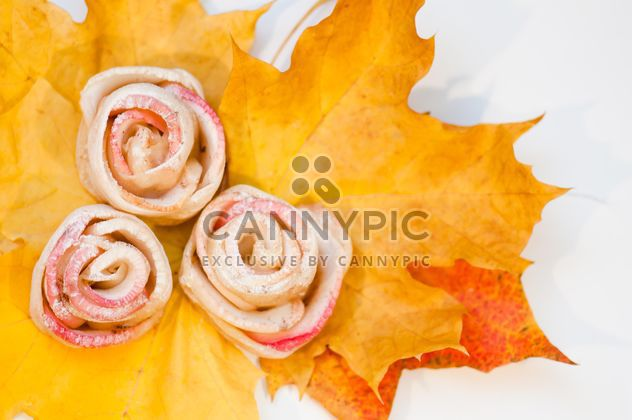 Roses made of dough and apples - Free image #337835