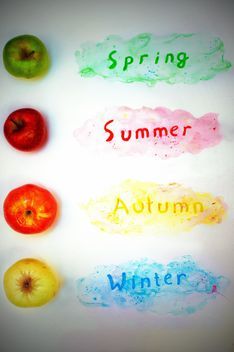 Colorful apples and seasons - image gratuit #337865