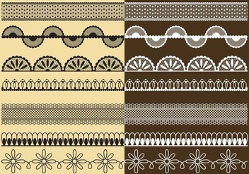Lace Trims - vector gratuit #337955
