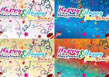 Merry Christmas And New Year - Free vector #337965