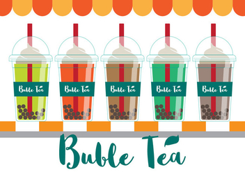 Bubble Tea Vector - Kostenloses vector #338005