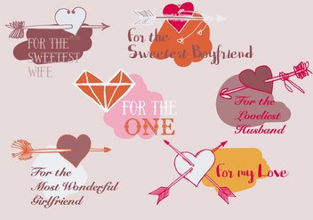Free Valentines Day Vector Background with Arrows - Free vector #338045