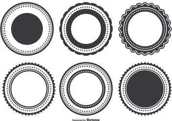 Badge Shape Set - Kostenloses vector #338125