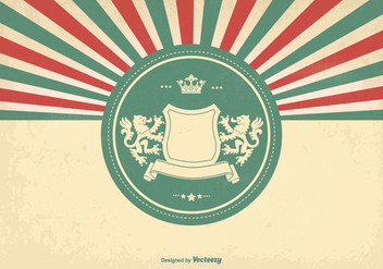 Heraldic Style Vintage Background - Free vector #338155