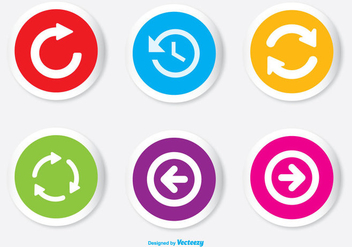 Assorted Colorful Arrow Button Icon Set - Free vector #338175