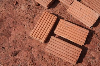 Red bricks on ground - Free image #338255