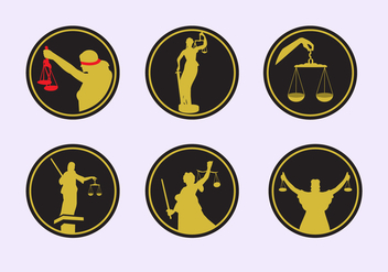Lady Justice Icons - vector #338335 gratis