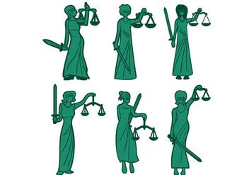 Lady Justice Vector - Free vector #338425