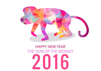 2016 year of monkey - Free vector #338735