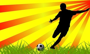 Soccer player - Free vector #338895