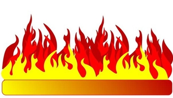 Burning banner - Free vector #338945