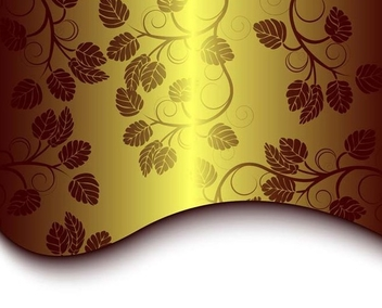Floral golden background - Free vector #338955