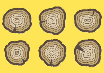Free Tree Rings Vector Illustration #7 - Free vector #339335