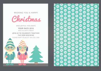 Vector Christmas Card - Free vector #339395