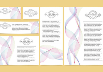 Colorful Lines Brand Templates - Free vector #339415