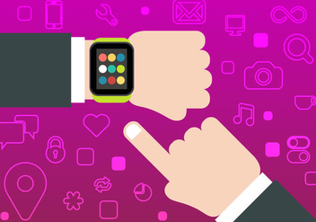 Free Smart Watch Vector - vector gratuit #339485