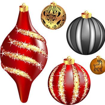 Cool vector christmas balls - Kostenloses vector #339545