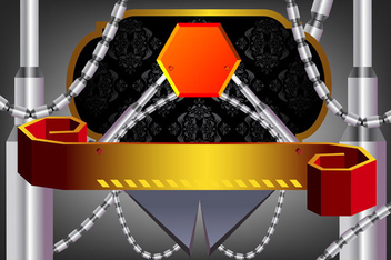 Abstract futuristic design - Free vector #339655