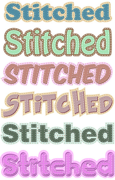 Stitched Graphic Styles - Free vector #339965